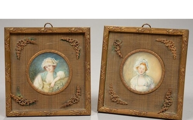A PAIR OF FRENCH SQUARE GILT BRASS REED-AND-FOLIAGE PHOTOGRA...