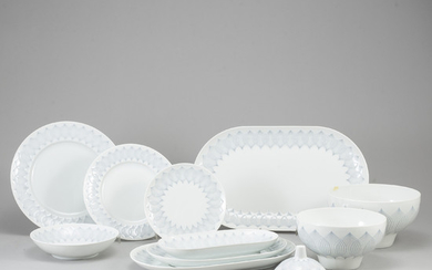 A Rosenthal dinner service, 20th Century. (77 pieces)
