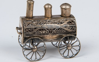 A SILVER SPICE CONTAINER. Poland, c. 1880. In the shape