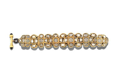 A diamond-set enamelled-gold bracelet, North India, 18th/ 19th Century