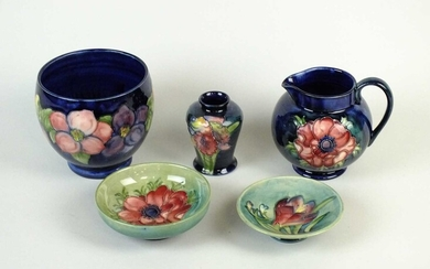 A group of Moorcroft pottery