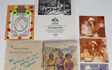 A small group of rock ephemera, relating to Jimmy Page, Robert Plant and Led Zeppelin, comprising a