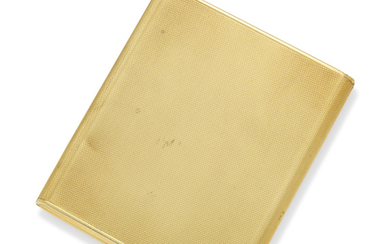 AN 18CT GOLD LARGE CIGARETTE-CASE, MARK OF OF ASPREY AND COMPANY LIMITED, LONDON, 1957