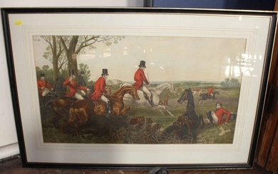 After John Frederick Herring Senior A set of four hunting pr...