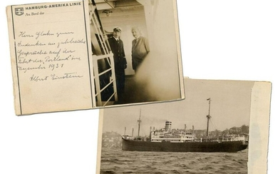 Albert Einstein ALS & Snapshot on Hamburg-American Line