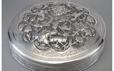 An Anglo-Indian Repoussé Silver Box