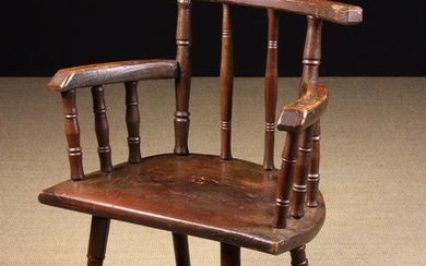 An Unusual Early 19th Century Provincial Armchair with residual paintwork (reputedly Ex Dame Elizabe