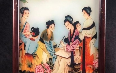 Ancient Art Chinese Painting Wall Art Glass