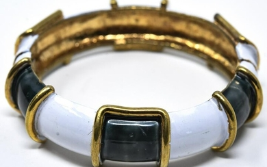 C 1970 Original by Robert Enamel Bangle Bracelet