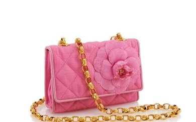 CHANEL | PINK QUILTED FLOWER FLAP MINI