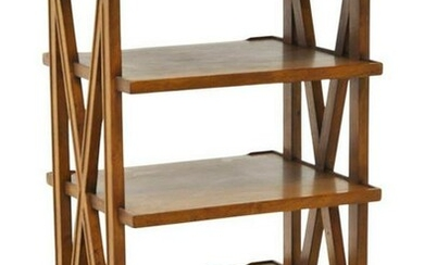 CONTINENTAL WALNUT FOUR-TIER ETAGERE/ BOOK STAND