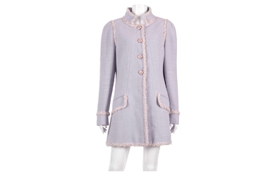 Chanel Lilac Boucle Long Jacket - size 46