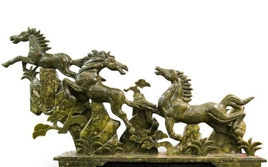 Chinese Faux Jade Horse Sculpture