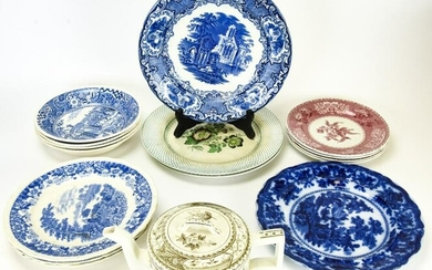 Collection Antique Blue & White Transfer Ware