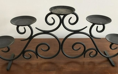 Contemporary Wrought Metal Candle Holder