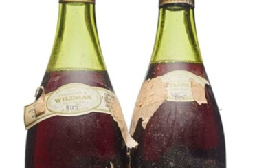 Domaine Marey-Monge, Romanée-Saint-Vivant 1965, Grand Cru, Côte de Nuits Badly corroded and damaged capsules, cork exposed, badly damaged, tissue-attached labels, vintage unclear, believed 1965 (pen-marked) Levels one 5cm and one 6cm