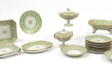 Early 19th century English dinnerware including