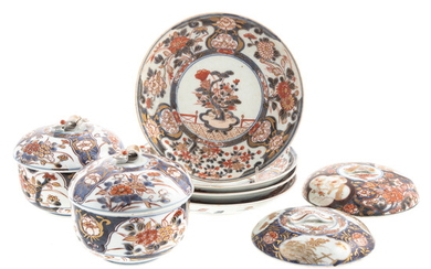 Eight Japanese Imari Rice Bowl Articles