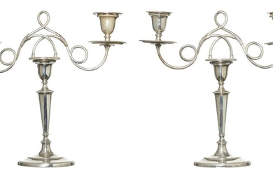 FINE PAIR OF GEORGE III PERIOD STERLING SILVER CANDLESTICKS