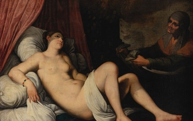 FRENCH SCHOOL, 17TH CENTURY, CIRCLE OF JACQUES BLANCHARD, AFTER TITIAN | DANAË