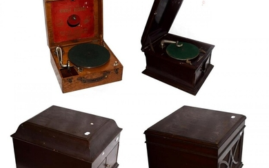 Four Table Grand Gramophones For Restoration: including an incomplete HMV...