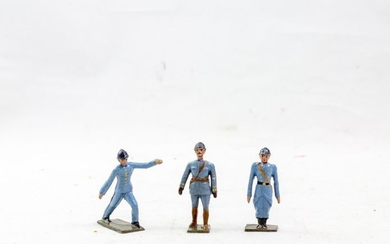 French factory CBG Paris, polychrome toy soldiers. Serving...