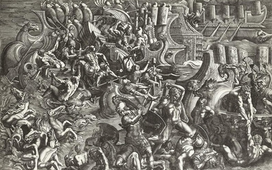 GIOVANNI BATTISTA SCULTORI Naval Battle between Trojans and