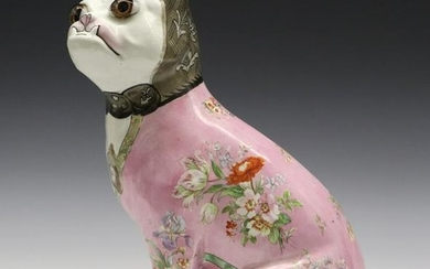 Galle Faience Dog
