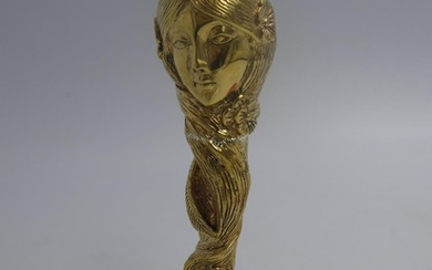 Gold plated seal in the form of an Art Nouveau figure