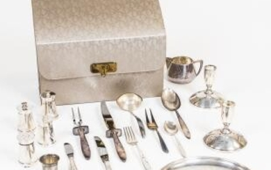 "Gorham ""Celeste"" Sterling Silver Flatware Luncheon Service For Eight and Associated Tableware"