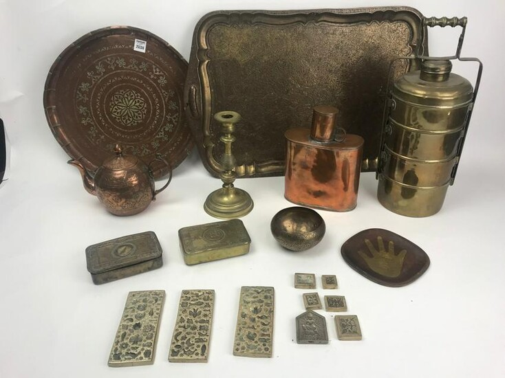 Group of Antique Copper and Brass Items