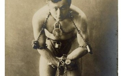 Harry Handcuff Houdini Postcard, from the Houdini