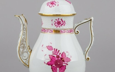 Herend Chinese Bouquet Raspberry Large Teapot #611
