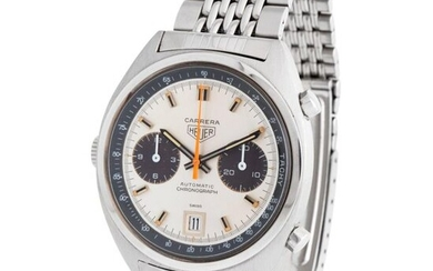 Heuer. A Very Fine and Beautiful Carrera Automatic Chronograph Wristwatch in Steel