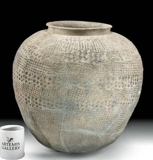 Huge Ancient Chinese Warring States Pottery Urn