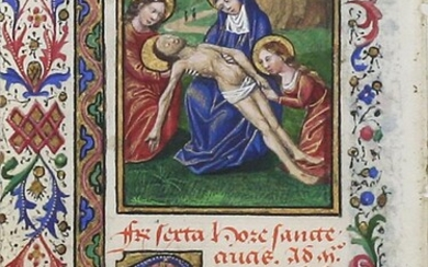 Illuminated Manuscript Leaf: The Lamentation