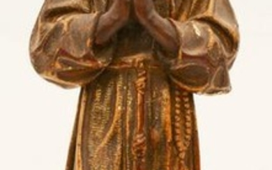 Italian 18th Cent. Gilt Santos Figure of Monk