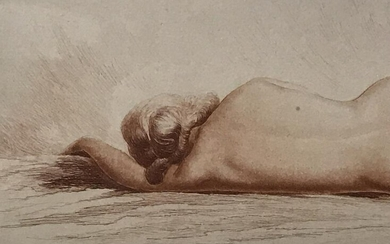 Jean Vyboud Signed Female Nude Copper Etching