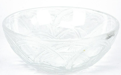 Lalique French Frosted Art Glass Pinsion Bowl
