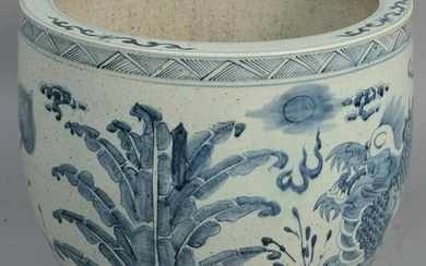 Large Chinese porcelain blue and white