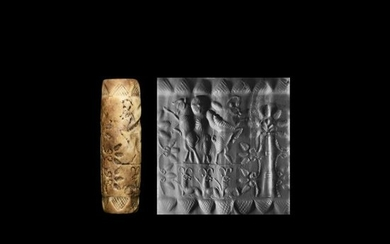 Late Kassite Cylinder Seal - Stylised Tree / Winged