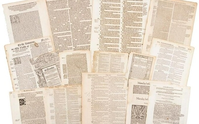 Leaves from early English Bibles & religious texts