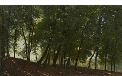 MANNER OF GUIDO CARMIGNANI FIGURE IN WOODLAND SHADE