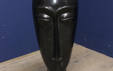Marble 'Pacific Island' style head 70h cm
