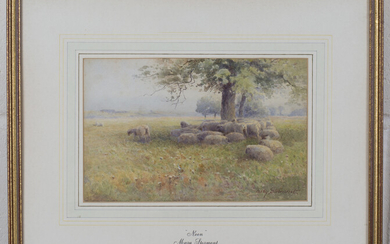Mary Stormont - 'Noon' (Sheep resting in the shadow of a Tree), late 19th/early 20th centu