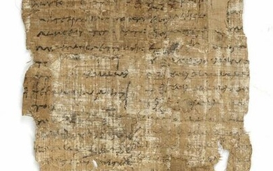 OLD FRAGMENT OF A PAPYRUS DOCUMENT, EGYPT, CIRCA 2100