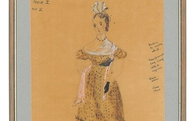 Attributed to Alan Tagg (1928-2002), Costume design for Niece I, from Act III of Benjamin Britten's 'Peter Grimes', 1963 production