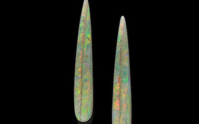 Pair of Crystal Opal Cabochons