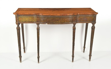 Period English Paint Decorated Adam Pier Table, ca.