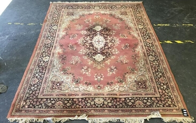 Pink Tone Machine Made Carpet with Central Medallion (232 x 171cm)